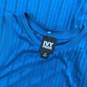 IVY PARK BLUE SLEEVELESS ACTIVEWEAR